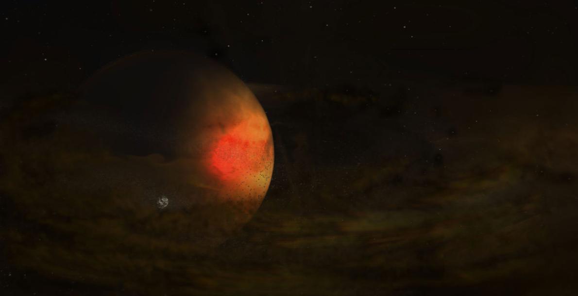 天文學家可能首度目擊了系外衛星的形成