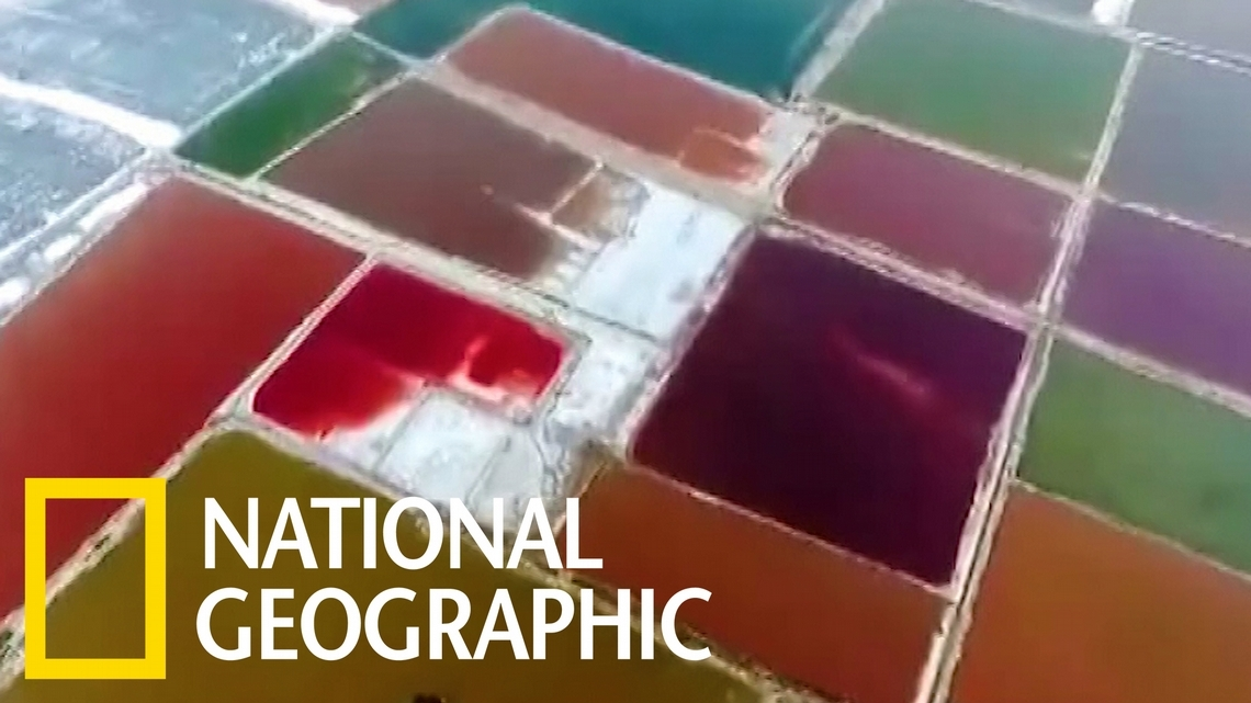 色彩繽紛的運城鹽湖