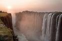 維多利亞瀑布的日落