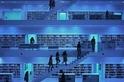 藍色的市立圖書館