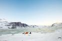 在北冰洋上露營