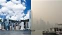 「咳咳!」霧霾籠罩香港天際線