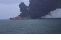 東海油輪碰撞後燃燒 恐釀生態浩劫