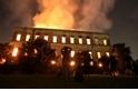 巴西博物館遭火劫,民眾悲怒交織