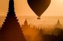 寺頂風光:蒲甘的黎明