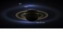 NASA發表從土星看到的地球影像
