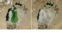 鹹海東部水域六百年來首次乾涸