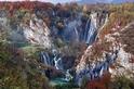 瀑布秋色:普利特維采湖群國家公園