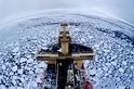 蘇格蘭河流上的神祕「荷葉冰」現象