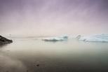 紫霧迷情:冰島冰河湖