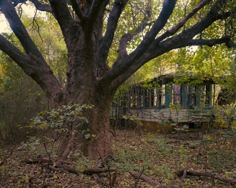 典獄長的家坐落在許多搖搖欲墜的建物之中,這些房舍提醒訪客哈特島曾有過去。PHOTOGRAPH BY JOEL STERNFELD