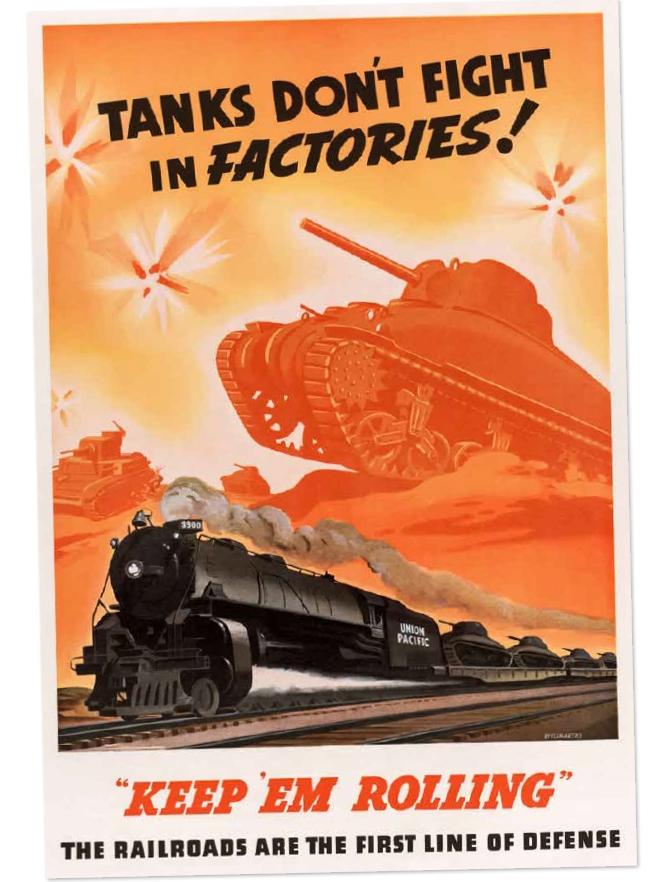 美國戰時生產委員會的海報提醒所有工廠:戰爭期間,他們的優先任務就是生產戰車。