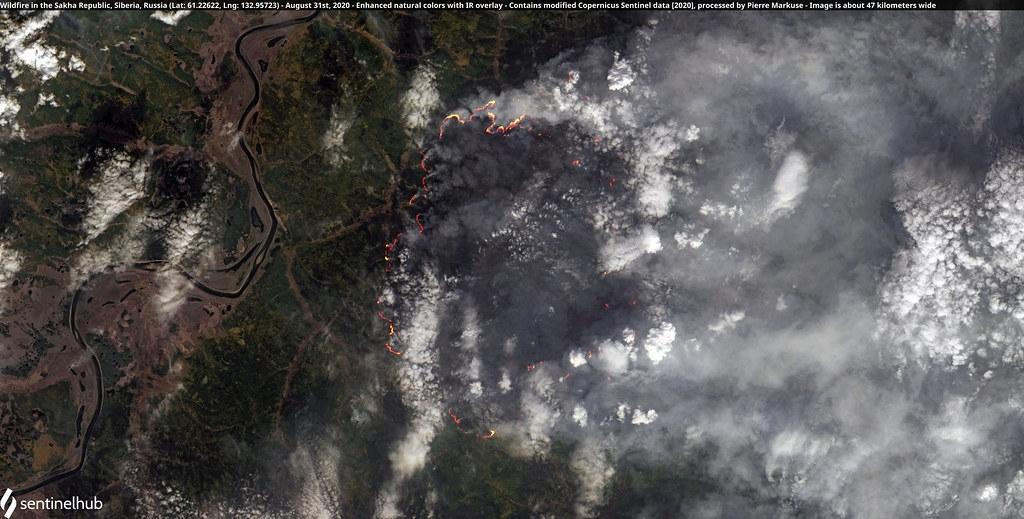 俄羅斯聯邦的薩哈共和國野火,攝於8月31日。照片來源:Pierre Markuse(CC BY 2.0)