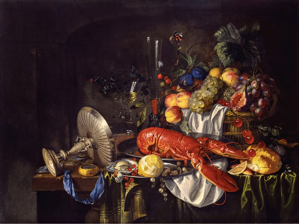 """STILL LIFE WITH A LOBSTER"" (1640S), BY JAN DAVIDSZ. DE HEEM, TOLEDO MUSEUM OF ART"