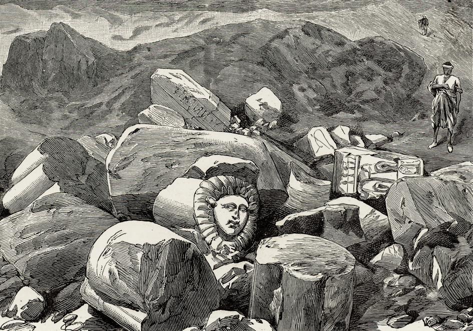 1887年《倫敦新聞》(London News)刊載的泰爾巴斯特(Tell Basta)遺址插畫。PHOTOGRAPH BY BRIDGEMAN/ACI