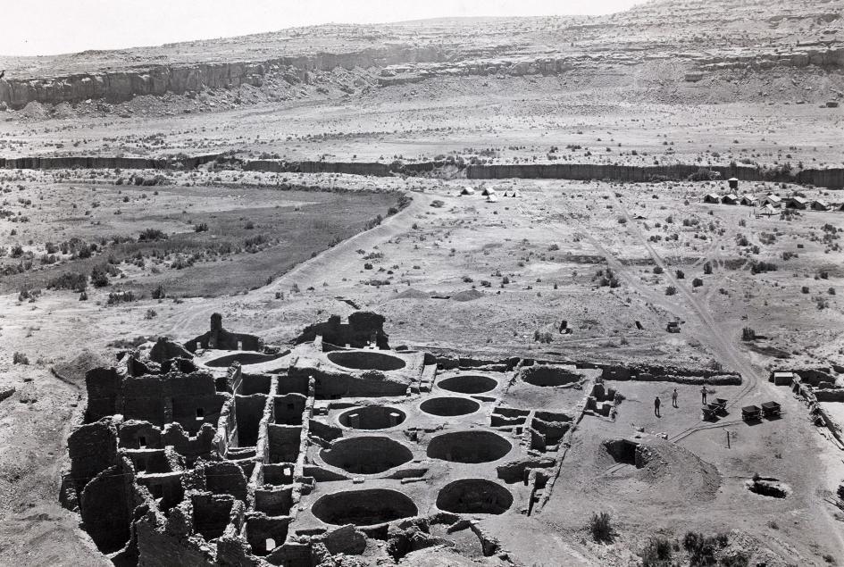 普韋布洛波尼托遺址已發掘的東南部分。PHOTOGRAPH BY NEIL M. JUDD, NAT GEO IMAGE COLLECTION