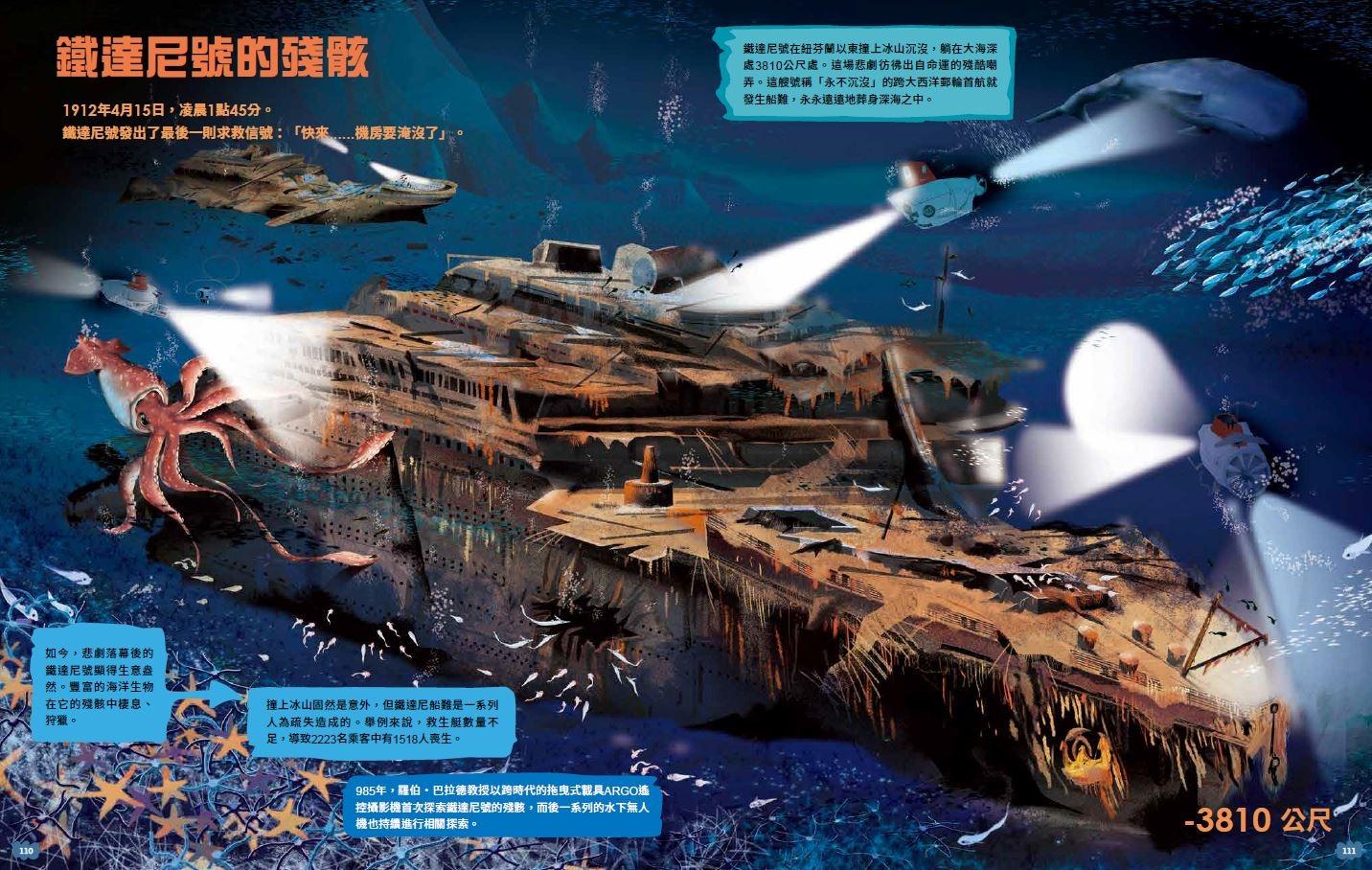 《探索海洋大地圖》鐵達尼號的殘骸