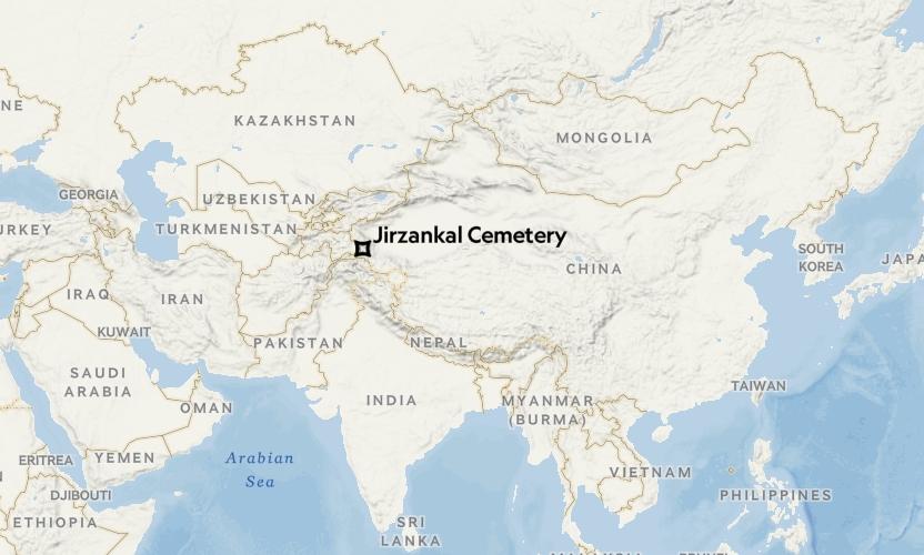吉爾贊喀勒墓地(Jirzankal Cemetery)的位置。