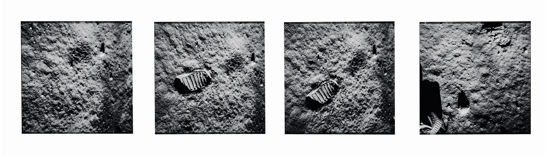 巴茲.艾德林拍下自己腳印的照片,見證了阿波羅11號太空人的「一小步」。NASA JOHNSON SPACE CENTER