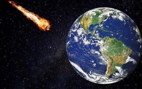 大型天體撞擊地球想像圖  pixabay