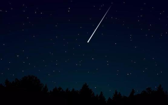 劃過夜空的流星  pixabay