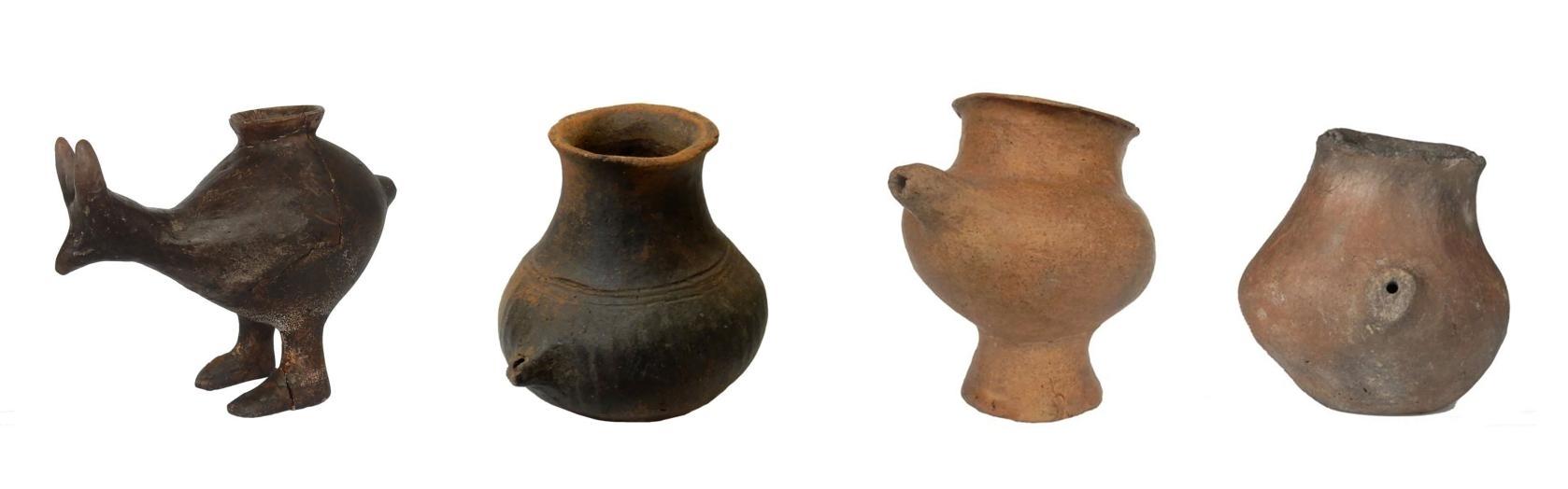 陶奶瓶約從7000年前開始出現在歐洲,其中有些還是動物造型的。這幾個樣本可追溯到公元前1200-800年。PHOTOGRAPH BY KATHARINA REBAY-SALISBURY