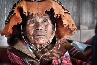 克丘亞婦女的臉