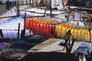 孟買市中心的洗衣場