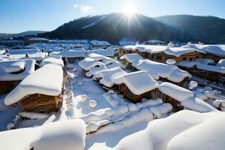 戲雪樂趣的冬季韻詠