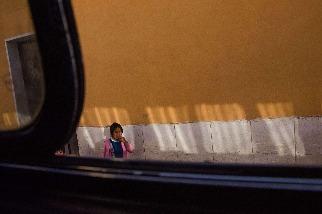 公車的車窗外