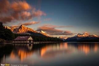 馬林湖震撼人心的日落