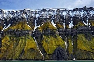 大地抽象畫:斯瓦巴懸崖