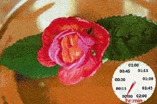 一朵「凝膠花」在實驗室綻放