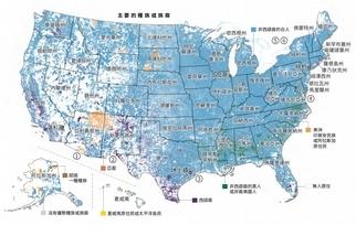 美國人口圖譜