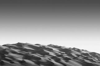 沙漠中的曲線