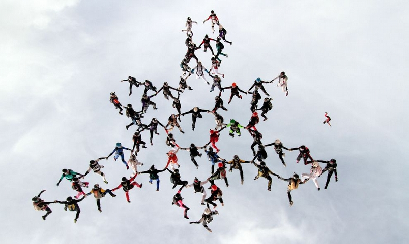 團體跳傘的致命危機