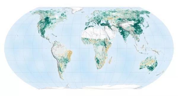 相比20年前,世界變得更「綠」了。圖片來源:NASA