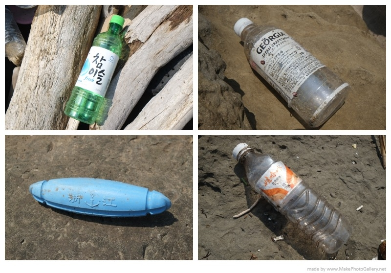 新北瑞芳臺2線83.2公里處,除了垃圾量很大之外,也有許多來自國外的垃圾。攝影:居芮筠