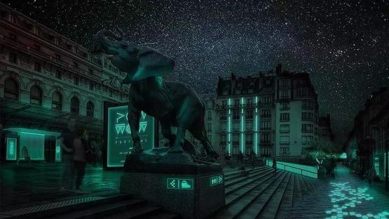 有生命的燈在未來的街道上織出一張發光的網絡  Glowee