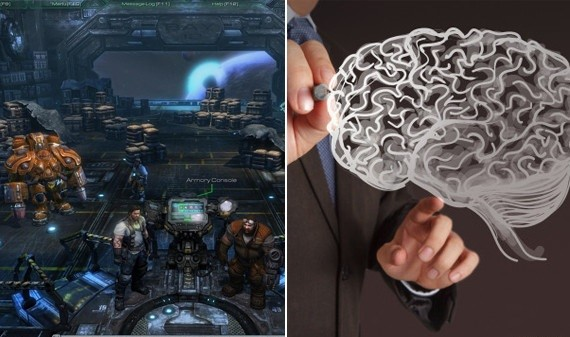 Businessman hand drawing a brain; Shutterstock ID 121478395; PO: aol; Job: production; Client: drone
