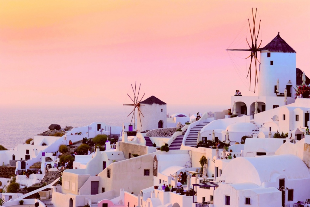 希臘 聖托里尼 greece sunset