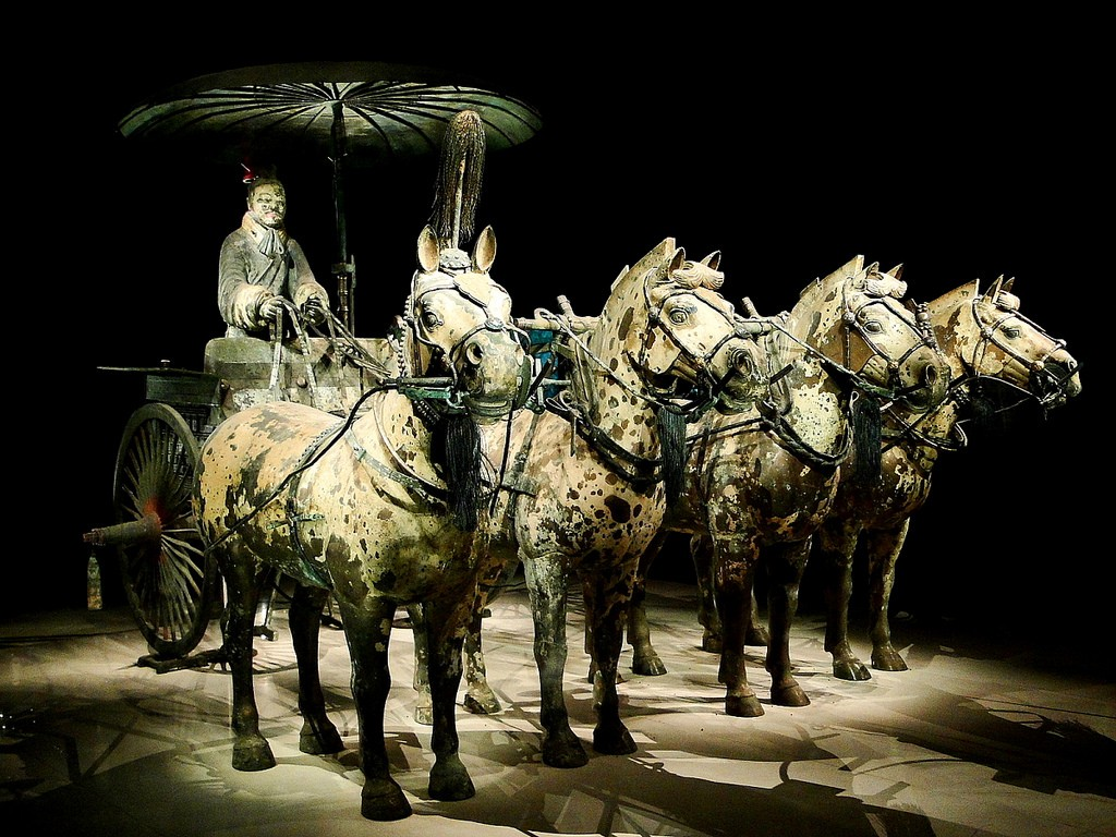 彩繪銅車馬