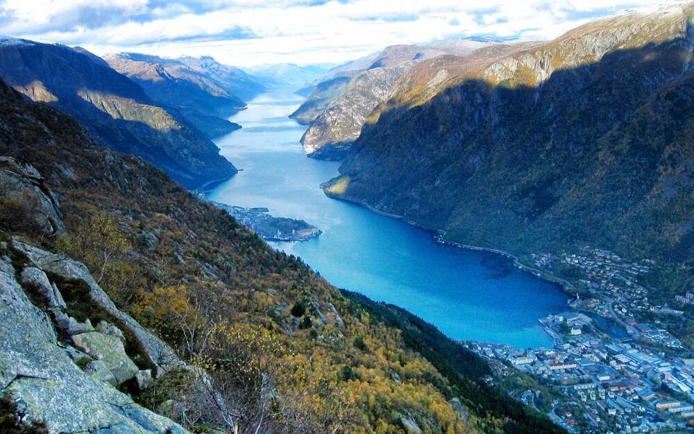 丹哈格峽灣 hardangerfjord 挪威 峽灣
