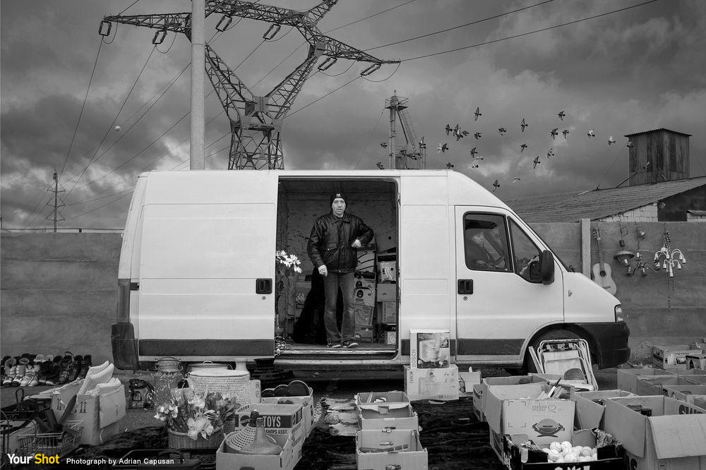 羅馬尼亞跳蚤市場攤販