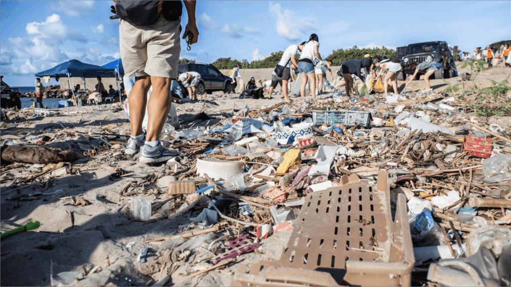 海邊垃圾新北萬里