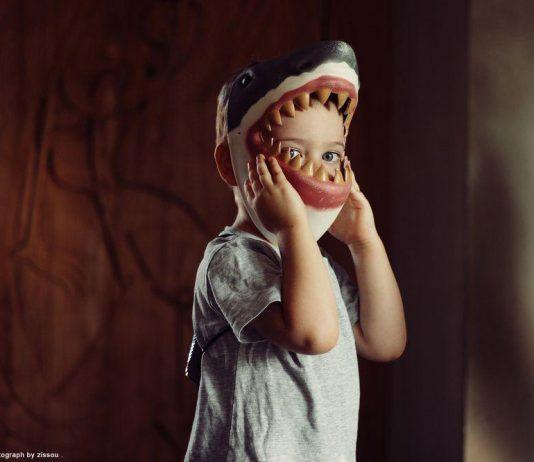 鯊魚男孩準備過萬聖節