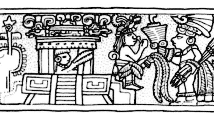 馬雅城邦提卡爾(Tikal)出土的畫作。(圖片來源)