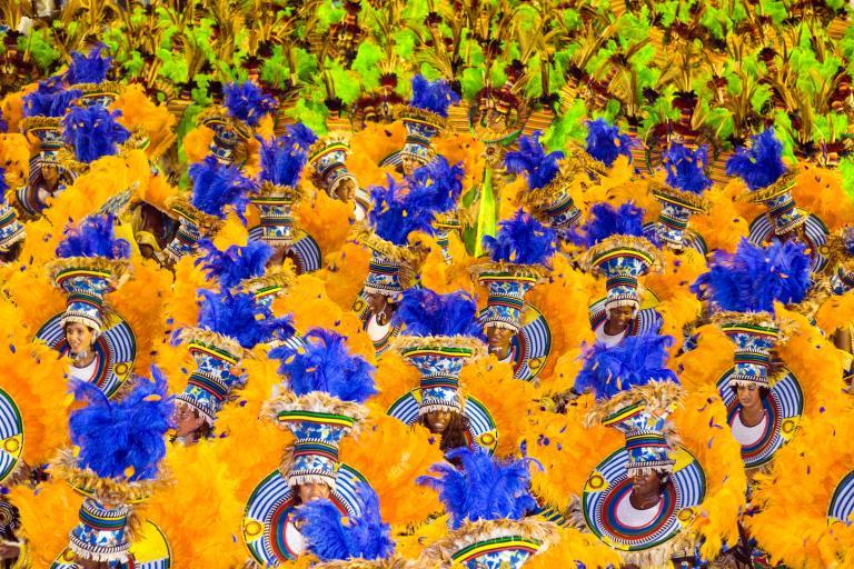 里約熱內盧嘉年華遊行的舞者們。PHOTOGRAPH BYSTUART DEE, GETTY IMAGES