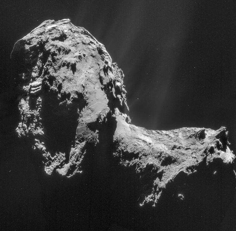 在羅賽塔號到達67P彗星之前,沒人知道它的真面目。攝影: PHOTOGRAPH BY ESA/ROSETTA/NAVCAM