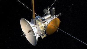 這是卡西尼號太空船。
